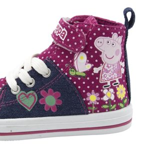 Peppa Pig Denim And Pink Toddler High Top Sneakers