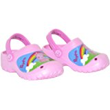 Peppa Pig Girls Molded Clogs Pink with Rainbow Sun Scene