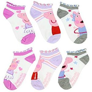 Peppa Pig Little Girl's Anklets Socks 3 Pair Cartoon Character