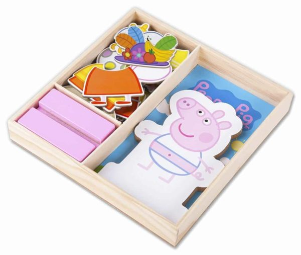 Peppa Pig Magnetic Wood Dress Up Puzzle