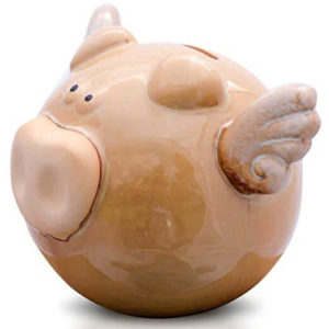 Unique Flying Pig Ceramic Piggy Bank For Kids Boys Girls Teens