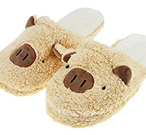 Womens Ladies Girls Spring Autumn Winter Sweet Cozy Cotton Warm Slip-on Clog Slipper Slide Sandals Mules Lightweight Antiskid Home House Indoor Bedroom Bath Spa Flat Scuff Slippers Footwear Shoes