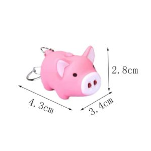 Little Piggy Design Led Keychain Flashlight 3pcs