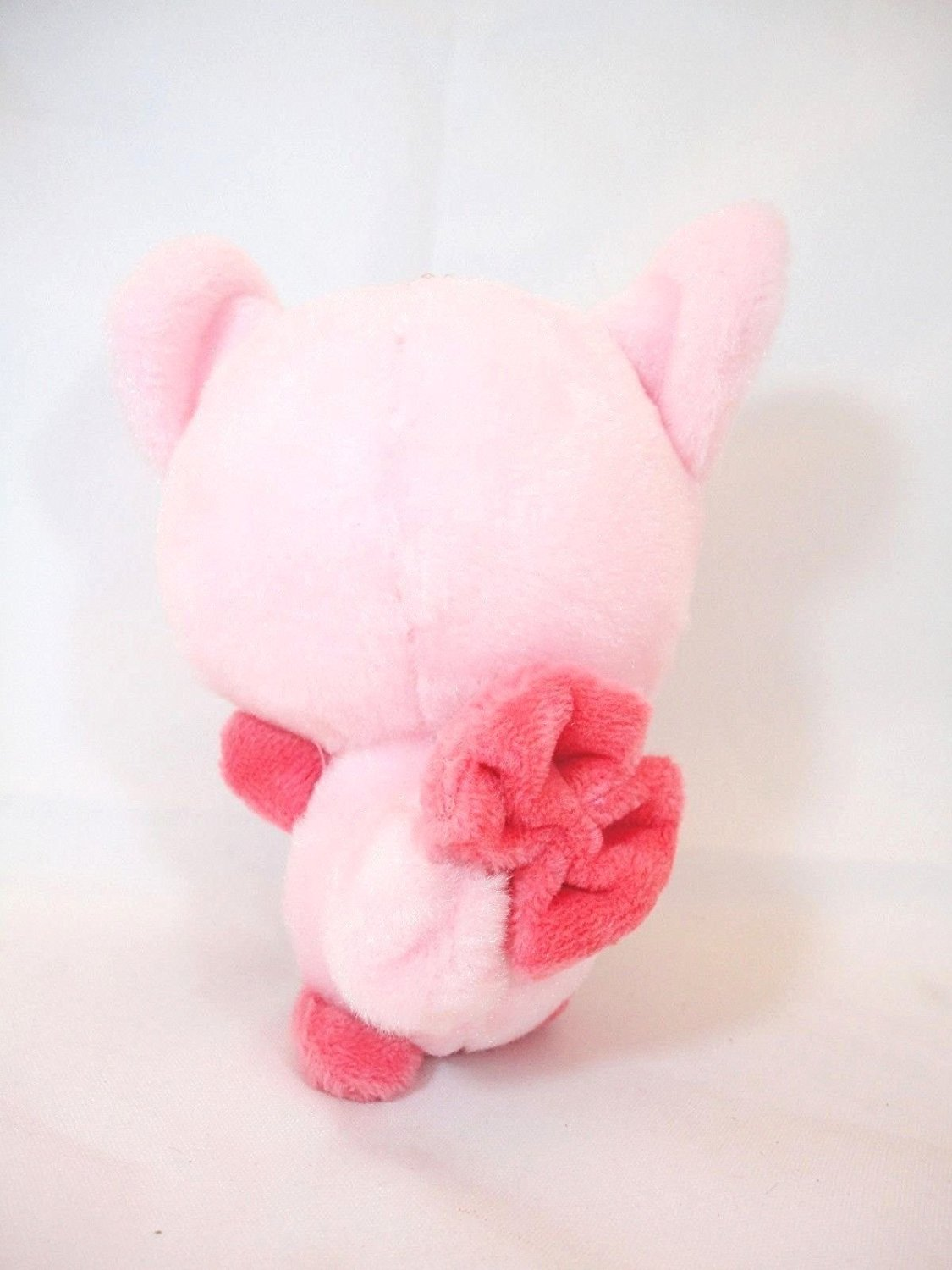 Pink King Pig w Rhinestone Crown Soft Plush Stuffed Animal Keychain Suction Cup