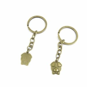 1 PCS Keyrings Keychains Key Ring Chains Tags Jewelry Findings Clasps Buckles Supplies W2KV5 Pig Piggy