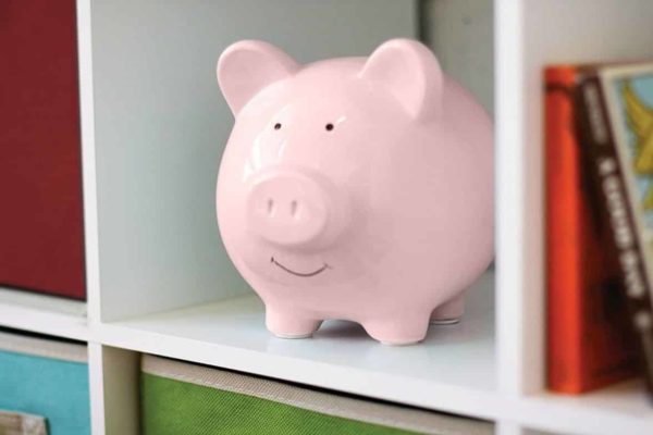 Small Cute Ceramic Coin Money Piggy Bank for Kids Pink