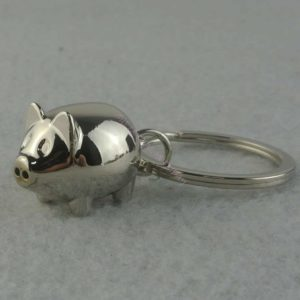 1Pcs Lovely Mini Pig Keychain Keyring Keyfob Cute Gift Ring Charm Decoration