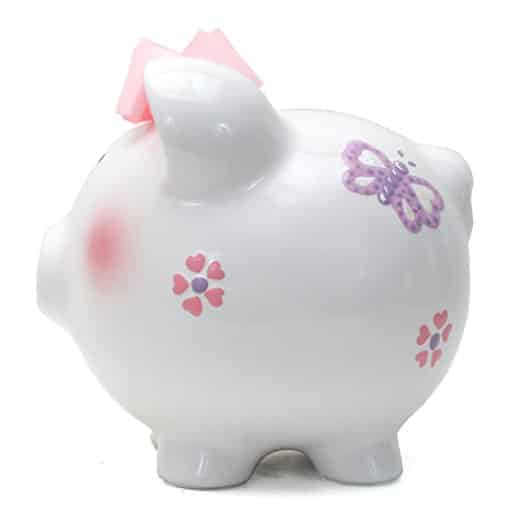 Child to Cherish Piggy Bank Large, Butterfly