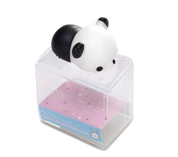 Cute Mini Animal Seals Healing Toys Slow Rising Squishy Stress Relief Toy for Kids Adults (Panda)