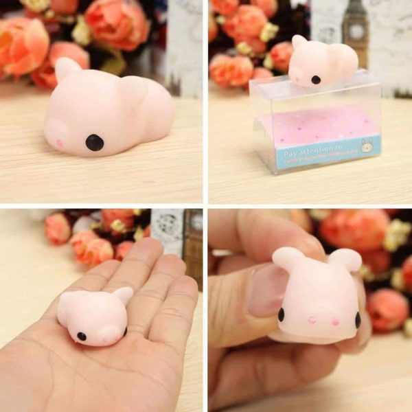Cute Mini Animal Seals Healing Toys Slow Rising Squishy Stress Relief Toy for Kids Adults (Pink Pig)
