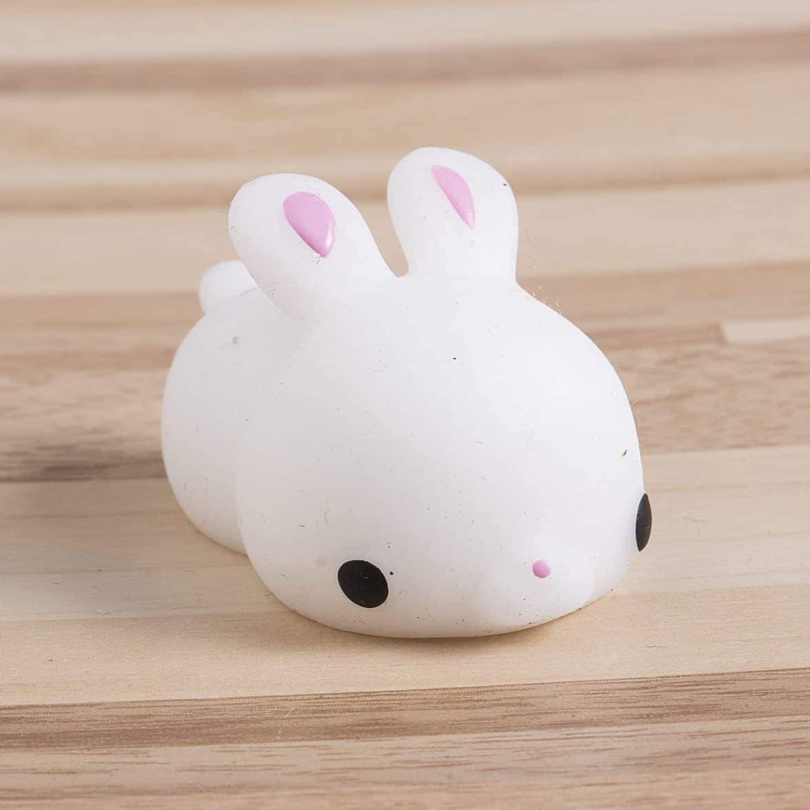 Cute Mini Animal Seals Healing Toys Slow Rising Squishy Stress Relief Toy for Kids Adults (Rabbit)