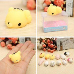 Cute Mini Animal Seals Healing Toys Slow Rising Squishy Stress Relief Toy for Kids Adults (Tiger)
