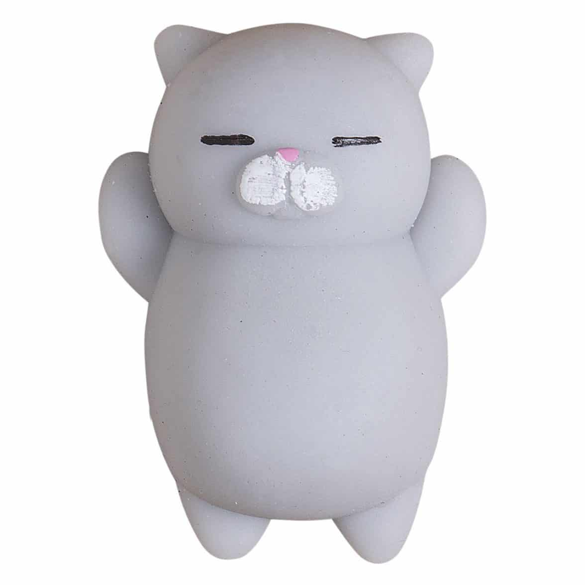 Cute Mini Animal Seals Healing Toys Squishy Stress Relief Toy for Kids Adults (Grey Cat)