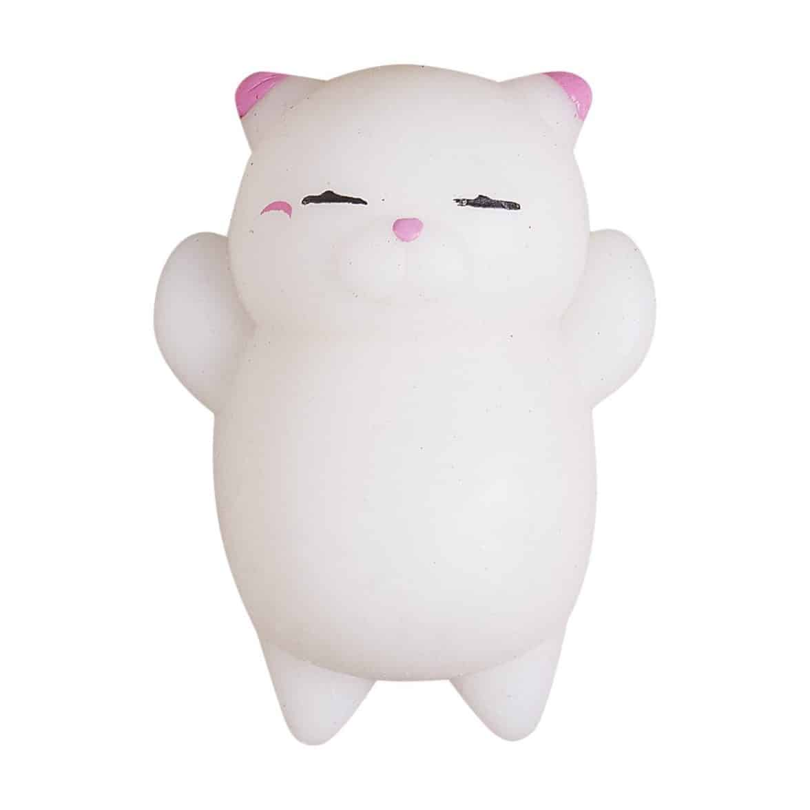 Cute Mini Animal Seals Healing Toys Squishy Stress Relief Toy for Kids Adults (White Cat)