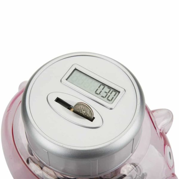 Digital Coin Bank Counter Sorter, NUESEN Piggy Money Saving Box Banks with Electronic Counting Function, Automatic LCD Display for US Coins