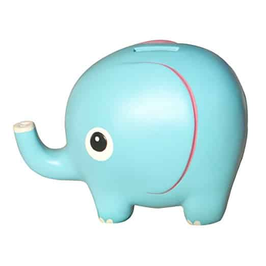 Eastyle 4.7 Cute Elephant Piggy Bank Toy Bank Money Bank for Kids Birthday Gift Blue