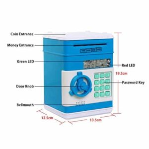 Eflar Code Electronic Money Bank,Mini ATM Coin Saving Banks,Coin Saving Boxes,Toys Gifts Birthday Gifts ATM Bank for Kids - Green
