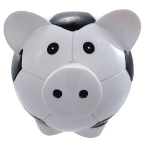 Funny Soccer Ball Pig Piggy Bank Football