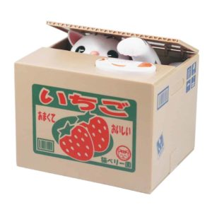 Itazura Coin Bank, Unique Gadgets & Toys Stealing Money Piggy Bank - American Shorthair