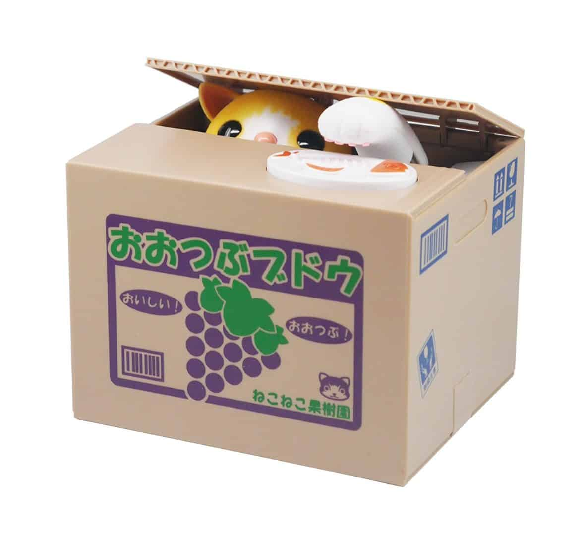 Itazura Coin Bank, Unique Gadgets & Toys Stealing Money Piggy Bank - Chatora