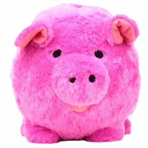 Jumbo Pink Plush Piggy Bank