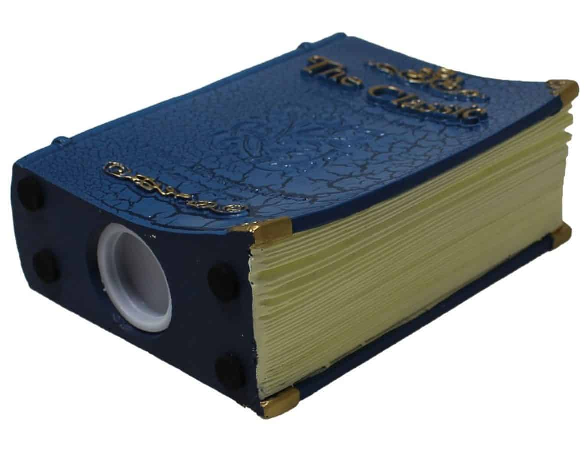 JustNile Old England-style Antique Book Savings Money Coin Piggy Bank with Stopper Plug - Small, Prussian Blue