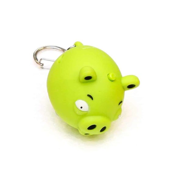 LED Light & Sound Keychains (Green)