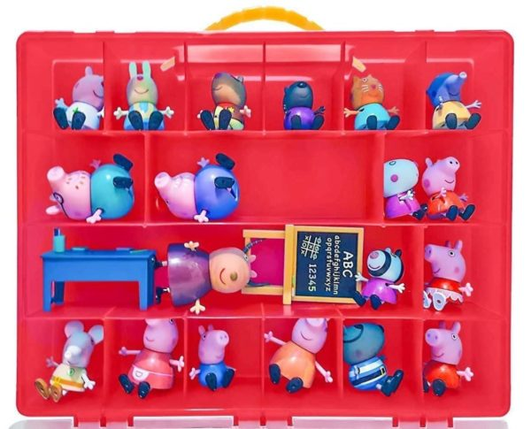 Life Made Better Toy Storage Organizer. Fits Up to 40 Figures. Compatible With Peppa Pig TM Mini Figures