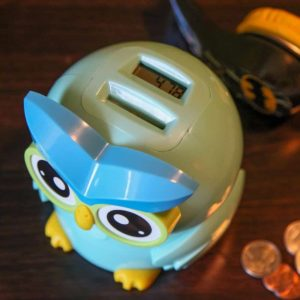 Lily's Home Kid's Money Counting Digital Coin Bank - Owl