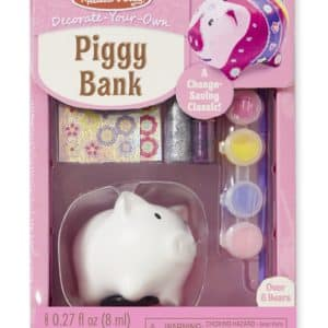 Melissa & Doug Decorate-Your-Own Piggy Bank Craft Kit
