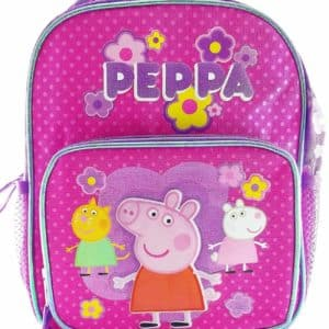 Peppa Pig 10 Canvas Pink & Purple School Backpack
