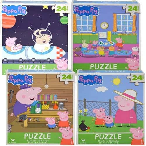 Peppa Pig 24pc Puzzles - Set Of 4