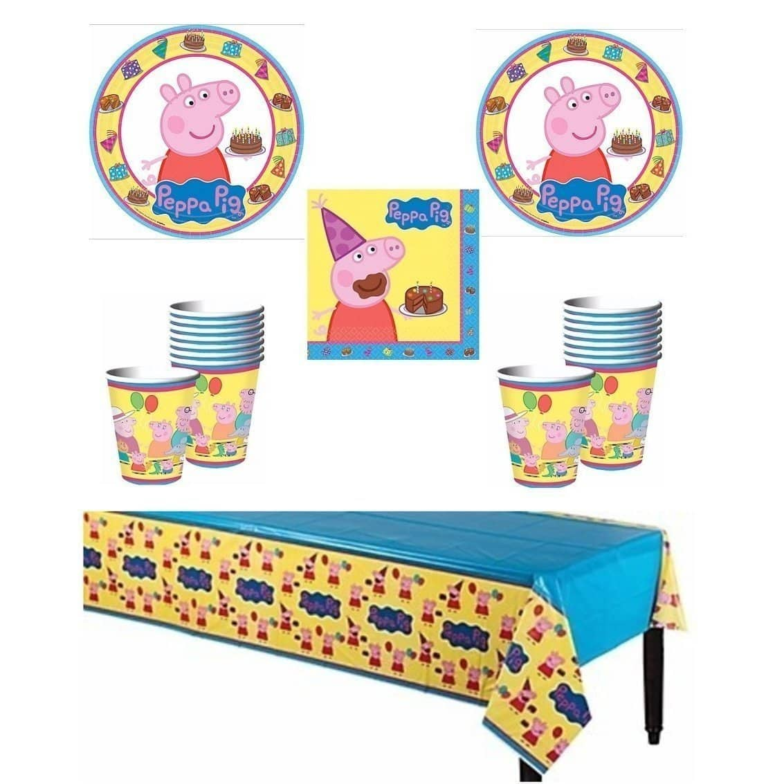 Peppa Pig Deluxe Party Supply Pack for 16 Guests