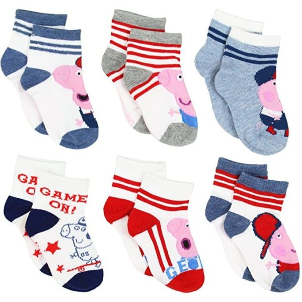 Peppa Pig George Boys 6 pack Socks (Toddler)
