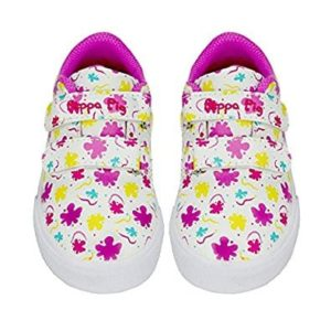 Peppa Pig Girls Low Top Double Strap Casual Sneakers