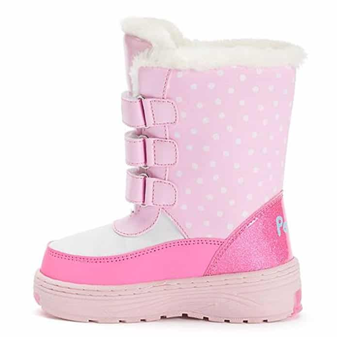 Peppa Pig Girls' Water-Resistant Winter Boots Light-Up