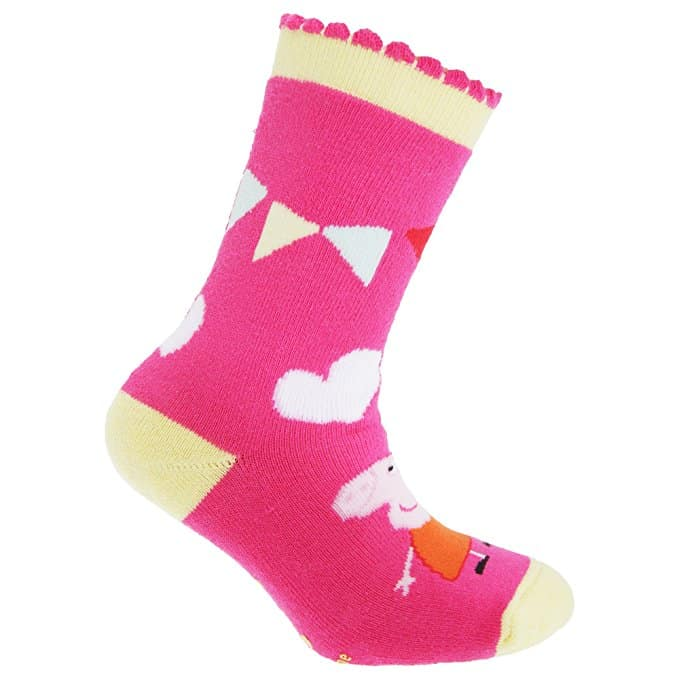 Peppa Pig Official ChildrensKids Slipper Socks (Pack Of 3)