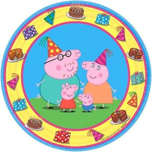 Peppa Pig Party Supplies Pack for 16 Guests Includes Straws, Plates, Napkins, Cups, and Table Cover (Bundle for 16)
