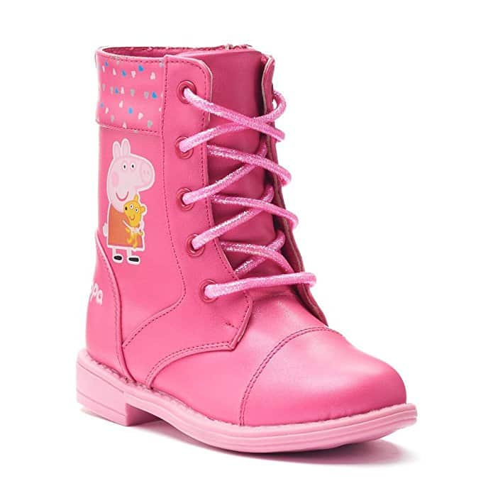 Peppa Pig Toddler Girls' Combat Boots (12, Pink)