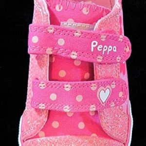 Peppa Pig ToddlerLittle Girls' Pink Glittery Floral Sneakers