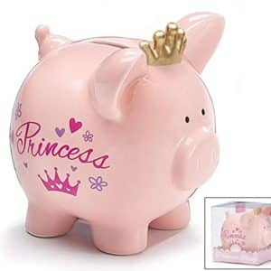 Pink Princess Savings Piggy Bank