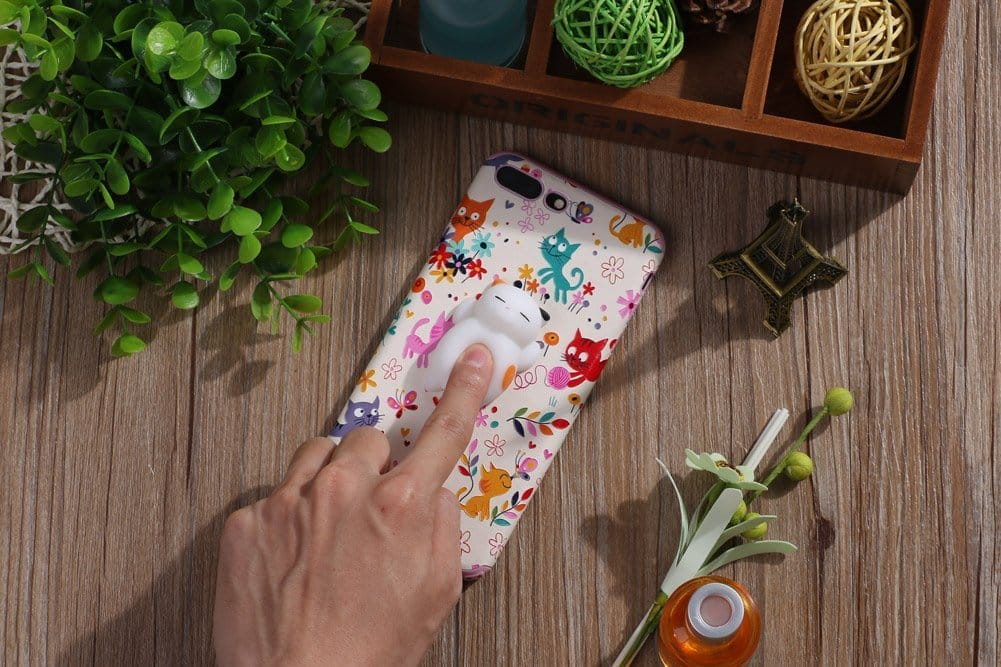 Squishy Cat Phone Case Cover for iPhone 66S 4.7 inch Smart Phones 3D Cute Animal Stress Relief Toy