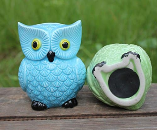 ZCHING Cute Owl Ceramic Piggy Bank Personalized Money Saving Bank for Kids Girls Nursery Gift Decor