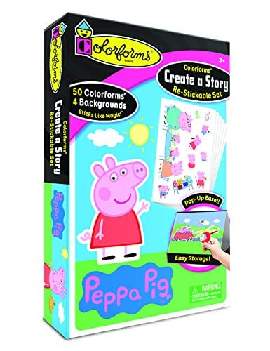 Colorforms Create a Story Peppa Pig Art and Craft Kit
