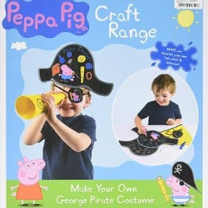New Peppa Pig Craft Range Make Your Own George Pirate Costume Playset Age 3+