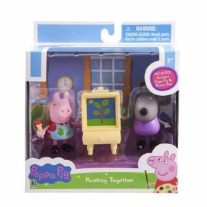 Peppa Pig Peppa & Danny Dog Painting Action Figure