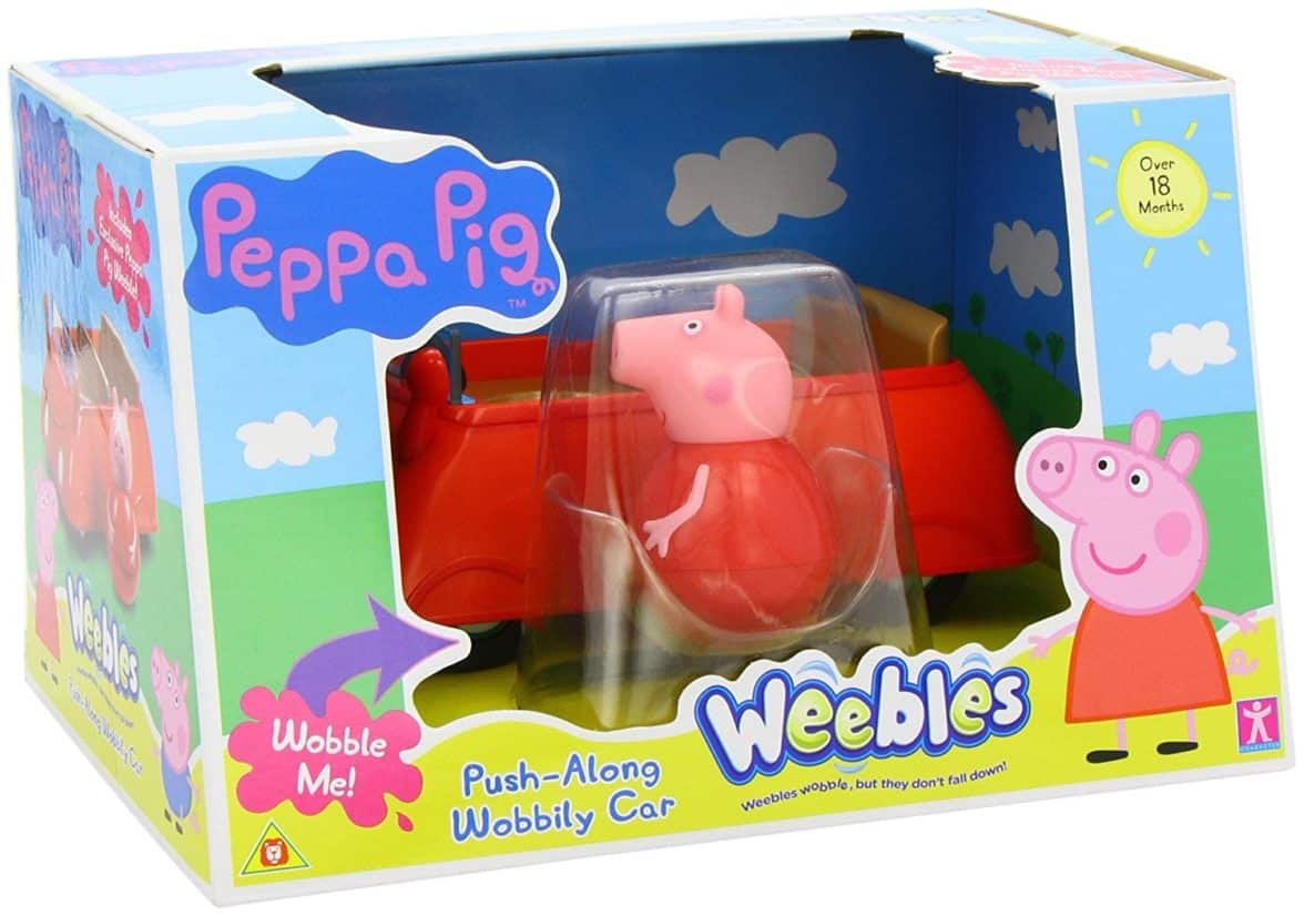 Peppa Pig Weebles Push Along Wobbily Car (Dispatched from UK)