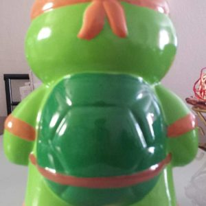 Teenage Mutant Ninja Turtles Michelangelo Mikey Ceramic Piggy Bank Coin Bank