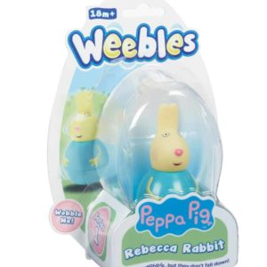 Weebles Peppa Pig Figure - Rebecca Rabbit