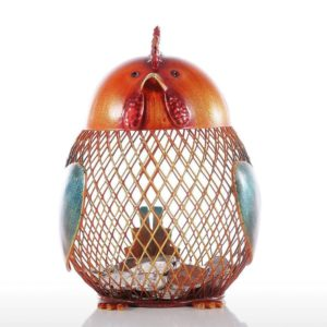 YABINA Metal Chicken Piggy Bank, Makes a Perfect Unique Gift, Nursery Décor, Keepsake, or Savings Bank for Kids